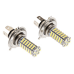 H4 7W 102x3020SMD 580LM 5500-6500K Cool White Light LED Bulb for Car (12V)