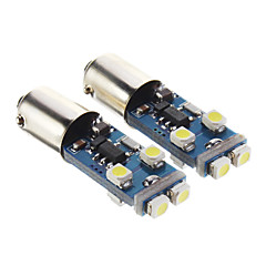 T10 BA9S 4W 8-LED 280LM 6000K Cool White Light LED lamp voor in de auto (12V, 2 stuks)