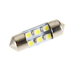 Pinol 6-LED 6000K Cool White Light LED pære til bil (12V)