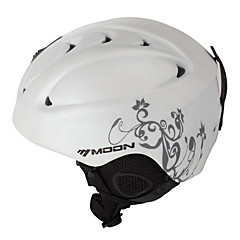 MOON Unsiex Gray Vine White Fall/Winter ABS Ski/Snowboard Helmet