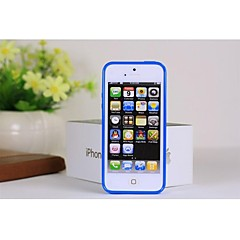 Solid Color Full Body TPU Cases with Dustproof Plug for iPhone5/5S