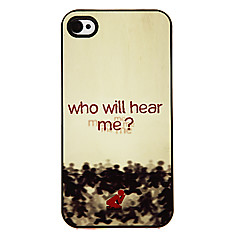 Men in Red Pattern Aluminous Hard Case for iPhone 4/4S