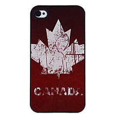 Canada of Flag Pattern Aluminous Hard Case for iPhone 4/4S