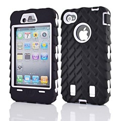 2 in 1 Armor Robot Style PC dan Sillcone Composite Case for iPhone 4/4S (Warna Aneka)