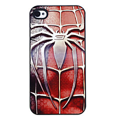 Steel Spider Pattern Aluminous Hard Case for iPhone 4/4S