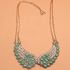 Angel Wings Crystal Collar Necklace
