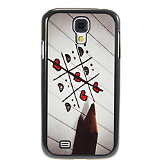 Pencil Love Pattern Aluminum&Plastic Hard Back Case Cover for Samsung Galaxy S4 I9500