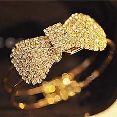 Full Crystal Bowknot Bangle Bracelet