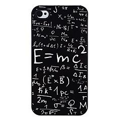 Massa-energian yhtälö Pattern Aluminaattisementti Kova kotelo iPhone 4/4S