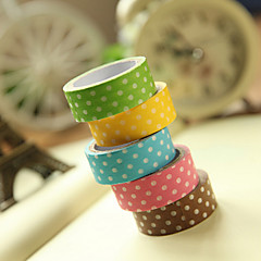 Simple Design Spot Pattern Tape(Random Color,1 PCS)
