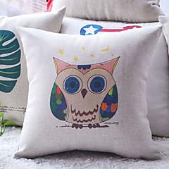 Weird Colorful Cartoon Hogwarts Owl Decorative Pillow Cover