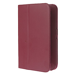 PU Leather Double-Fold Pattern Full Body Protective Case with Stand for Samsung Galaxy Tab 7.0 P3100