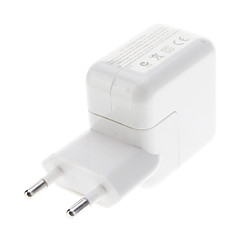 EU Typ USB-adapter för iPad / iPhone (Vit)