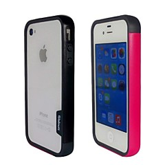 Fashion Double Color TPU Frame Bumper for iPhone4S(Black+Pink)