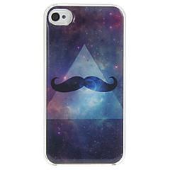 Stars Beard Pattern Epoxy Hard Case for iPhone 4/4S