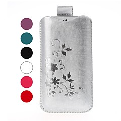 Flowers Pattern Leather Case for iPhone 4/4S/5/5S/5C
