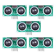 Sensore ad ultrasuoni US-100 Distanza Modulo di misura con compensazione della temperatura - Green (5Packs)