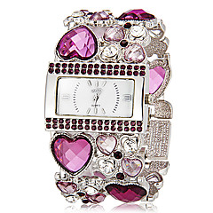 Women's Rectangle Dial Heart Shape Hollow Engraving Band Quartz Analog Bracelet Watch (Assorted Colors) Cool Watches Unique Watches