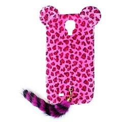 HW leopard Mönster Skyddande plast med svans för Galaxy S4 I9500 (blandade färger)