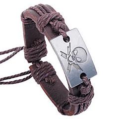 z&X® crânio 25 centímetros pulseira de couro wrap dos homens (1 pc)