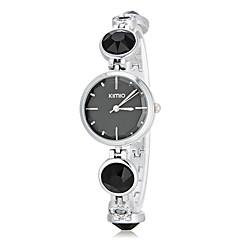Kvinners Simple Round Dial Diamante Band Quartz Analog armbåndsur (assorterte farger)
