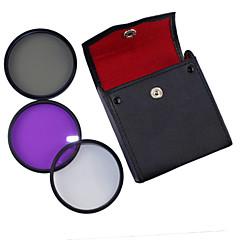 58mm UV + CPL + FLD 3-en-1 avec PU Sac en cuir