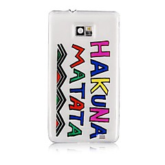 Colorful Letter Pattern Silicone Soft Case for Samsung S2 I9100