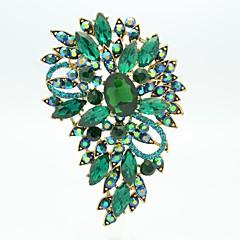temmelig 8.5cm legering og rhinetone Blomster broche pin (mere farve)