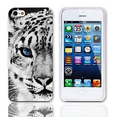 Padrão Tiger Hard Case com protetores de tela de 3-Pack para iPhone 5/5S