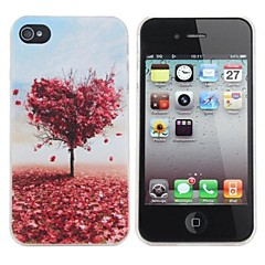 Love Tree Painting Pattern Hard PC Case for iPhone 4/4S