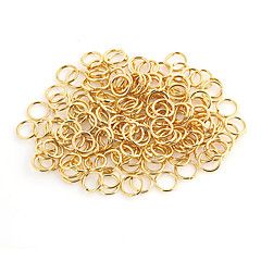 Durable Round Gold Alloy Clasps 100 Pcs/Bag