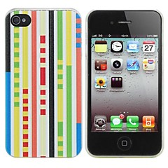 Colour Bar Painting Pattern Hard PC Case for iPhone 4/4S