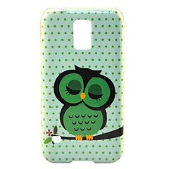 Lovely Owl Pattern Hard Case Cover for Samsung Galaxy S5 I9600