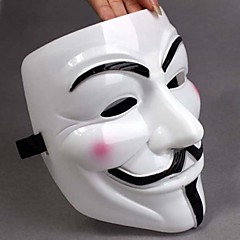 Paksuuntua White Mask V For Vendetta Full Face Scary Cosplay Hupituotteet Halloween Costume Party