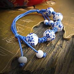 Z&X®  Classic Archaistic Personality Blue And White Porcelain 25cm Women's Ceramic Strand Bracelet(1 Pc)