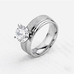 zircão anel de aço de titânio de miss rose®women