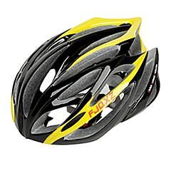 FJQXZ entegral kalıplı EPS + PC Sarı Bisiklet Kaskları (21 Tahliye)
