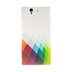 Kinston Color Diamond Pattern Plastic Hard Case for Sony L36h(Xperia Z)