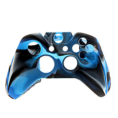 2 PCS Mushroom Caps and 2 PCS Blue Thumb Stick Grips and Silicone Case for XBOX ONE(Navy Blue)
