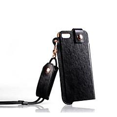 High-end Caso PU Couro Com Cordão para iPhone 5/5S