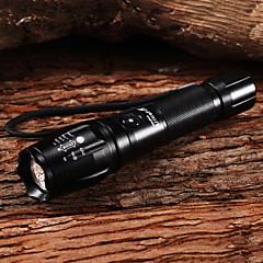Lampes Torches LED / Lampes de poche LED 5 Mode 1800 Lumens Rechargeable Cree XM-L2 T6 18650 Multifonction - Autres , NoirAlliage