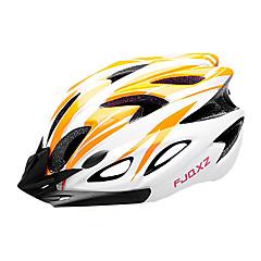 fjqxz eps + pc oranssi ja valkoinen valettu yhtenäiseksi pyöräilykypärän (18 aukot)