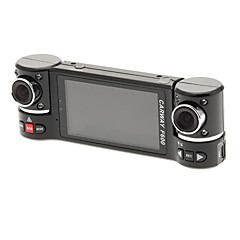 "F600 2.7 ""16:9 Dual 180 °-Roterende kamera HDMI In-Car DVR"