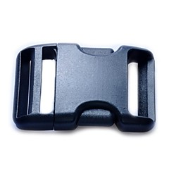 Luggage Strap Belt Clip Plastic Side Release Buckles 38mm - Black
