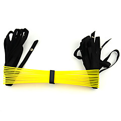 PP Plastic Fitness Stretch Training Ladder Ropes - Yellow