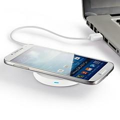 pad sans fil du chargeur d'alimentation pour Samsung Galaxy Nexus iphone lg 5 (base blanche bague intérieure de couleur aléatoire)