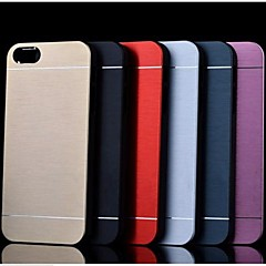 metal finish hard cover etui til iPhone 4 / 4S (assorterede farver)