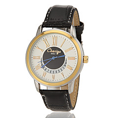Men's Gold Roman Dial Number Round Dial PU Band Quartz Analog Fashion Watch(Assorted Color) Cool Watch Unique Watch