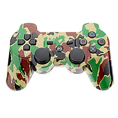 Camouflage Wireless Controller for PS3 (gul + grønn)