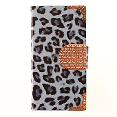 Leopard Tulosta PU Leather Full Body Case for iPhone 4/4S (Assorted Colors)